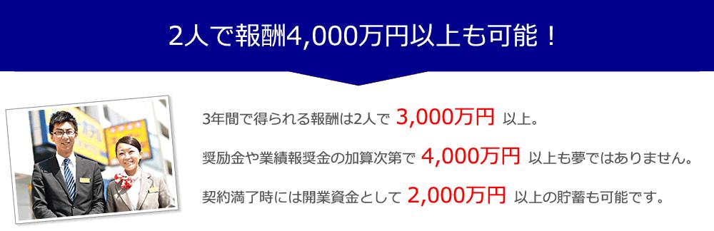 スーパーホテルの業務委託は2人で報酬4000万円以上も可能!